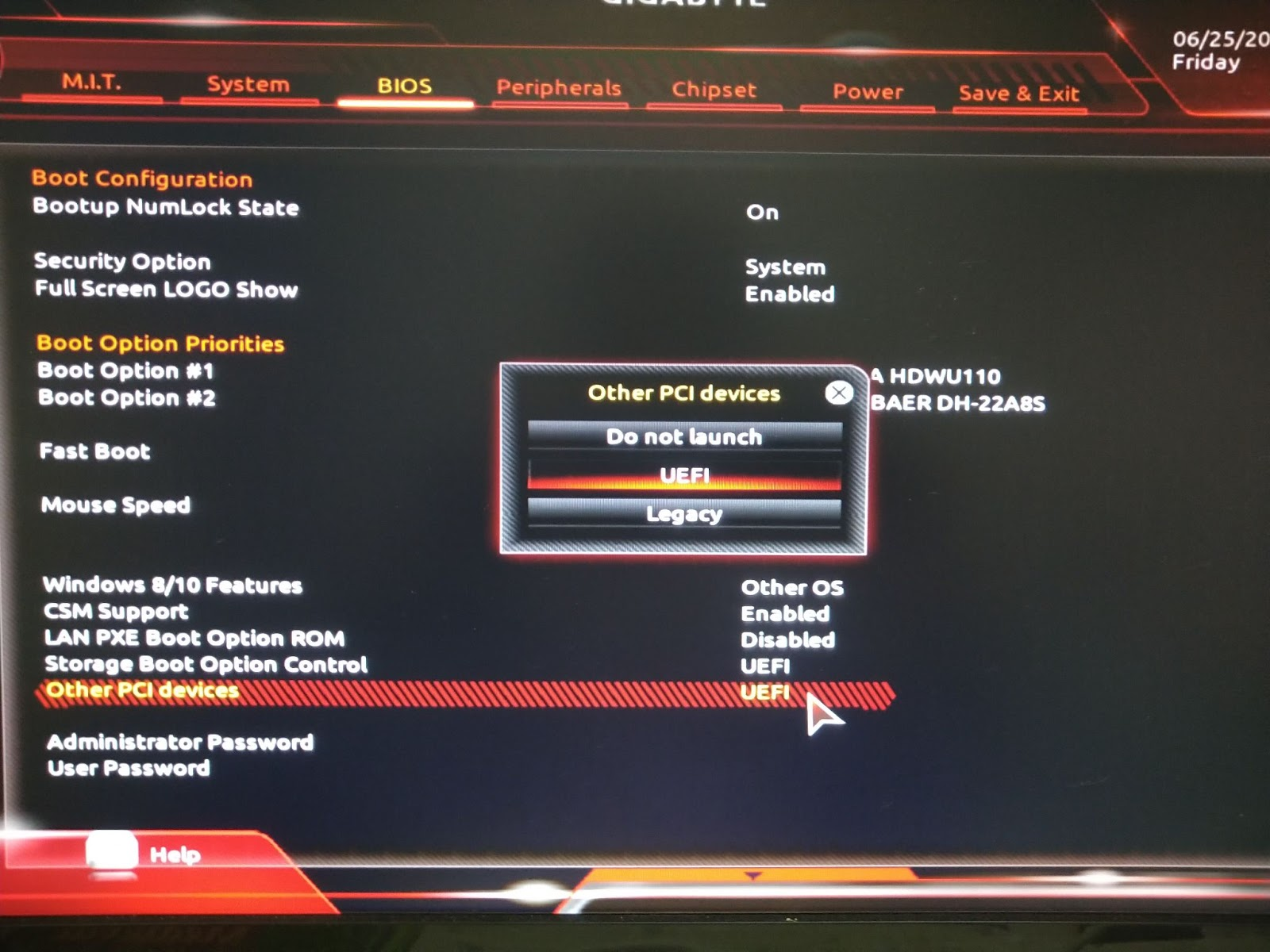 Other Mode in BIOS