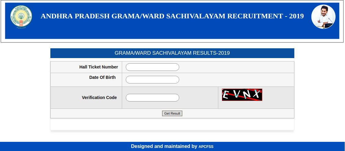 Grama Sachivalayam result, cut off