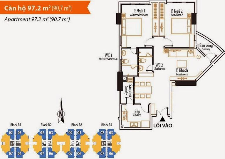 Thiết kế căn hộ 97,2 m2