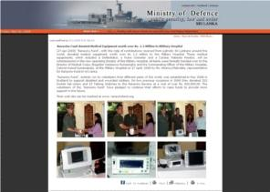 Defence Ministry website article