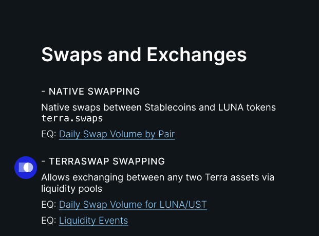Swaps and exchanges