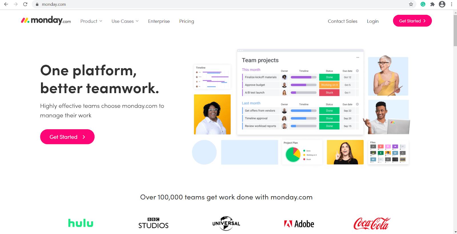 monday.com homepage