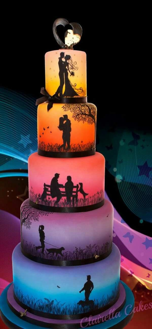 wedding ideas - wedding planning service in Philadelphia PA - wedding cake - four tier cake with photos - wedding ideas blog by K'Mich