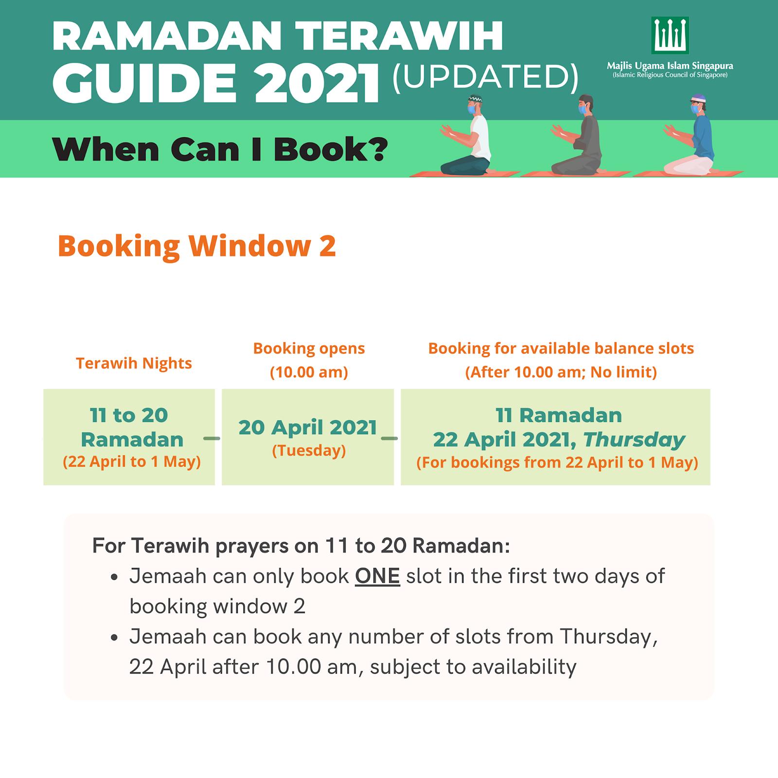 terawih booking singapore