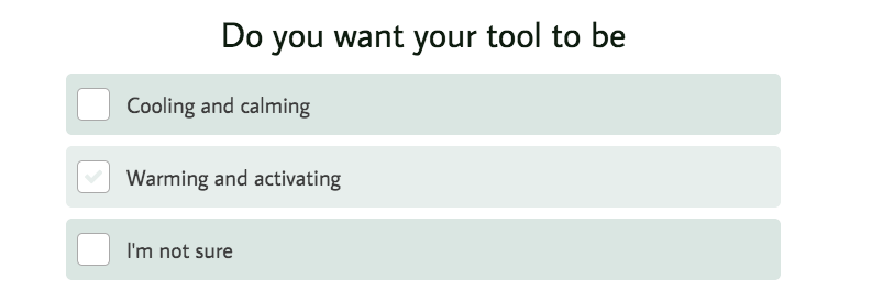 Do your want your facial tool to be question with answer choices