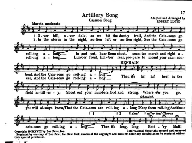 "The Annotated Army Song Book"" - World War I Centennial"