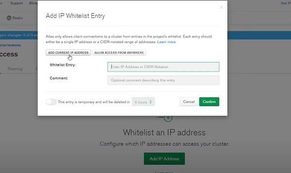 Add IP whitelist entry