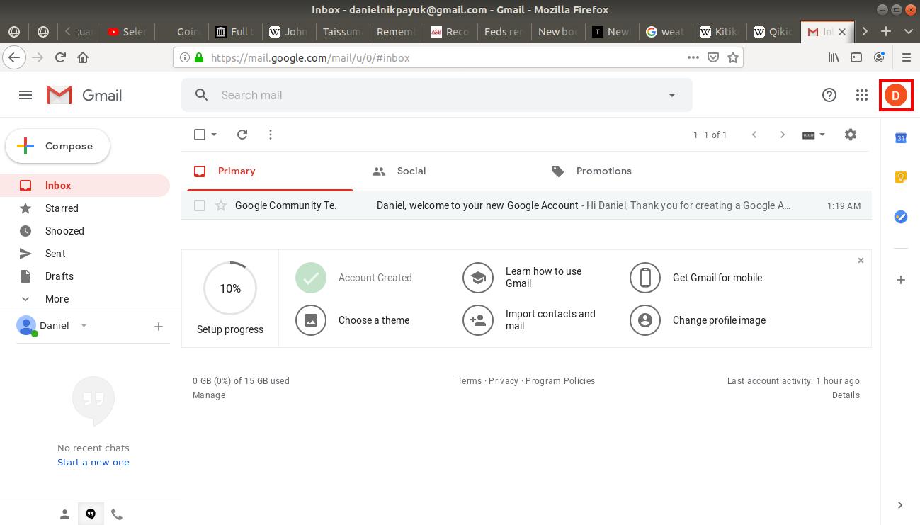 Gmail's inbox
