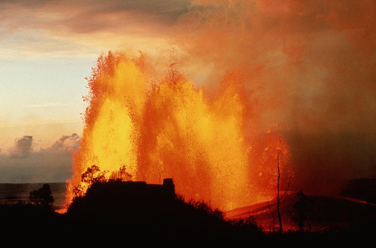 Massive lava fountains