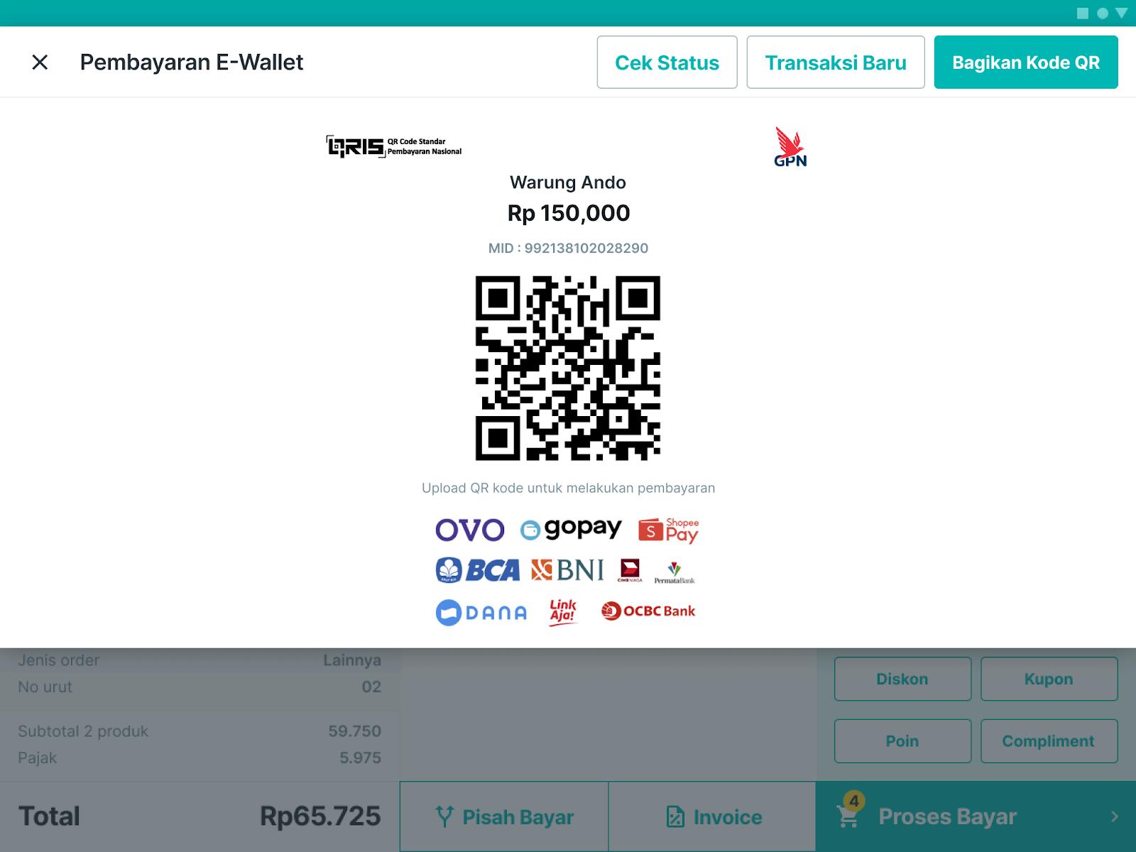 Gunakan fitur e-wallet majoo yang dapat diandalkan