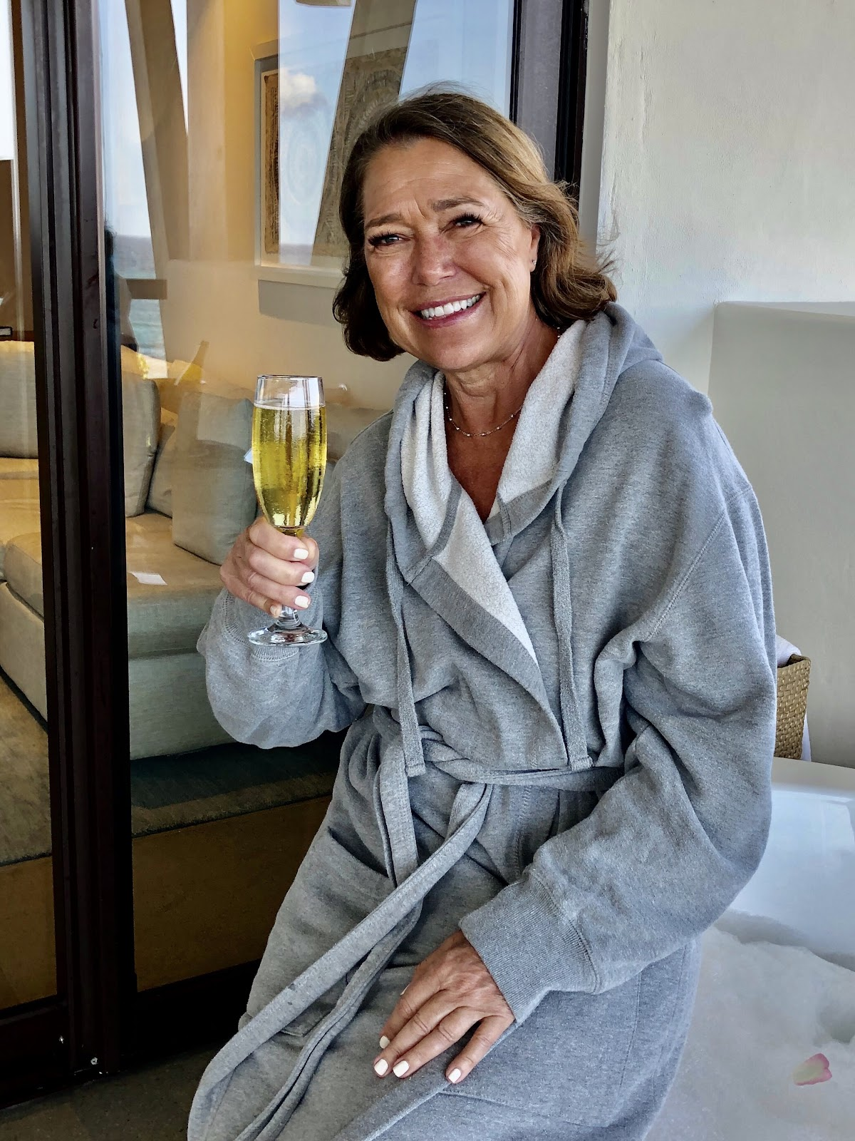 LuAnn in the famous UNICO Robes
