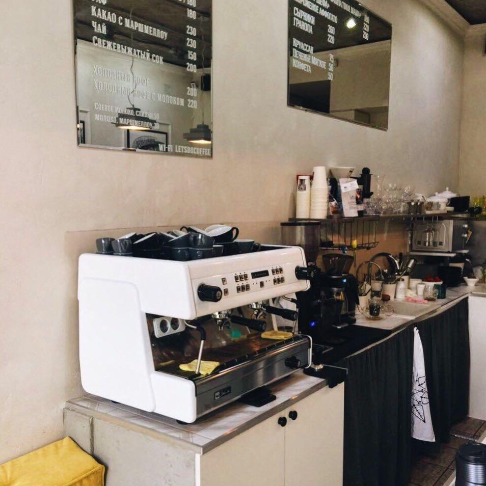 Открытая кухня в кофейне
