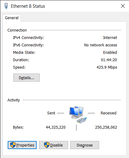 Check Properties to Change DNS Settings