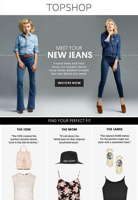Topshop - Retail Email Marketing Campaign - Product Email
