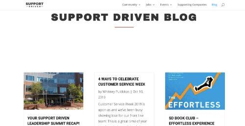 A screenshot of @supportdriven's blog