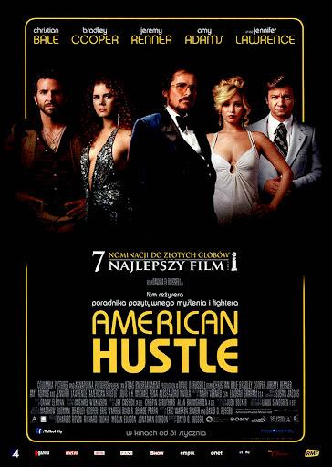 Przód ulotki filmu 'American Hustle'