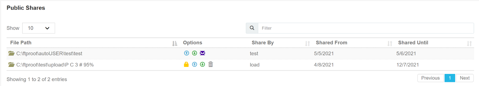 Cerberus FTP Server Web Client User Manager