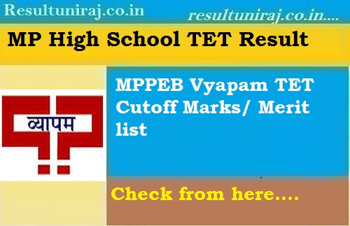 MP High School Teacher Result 2019