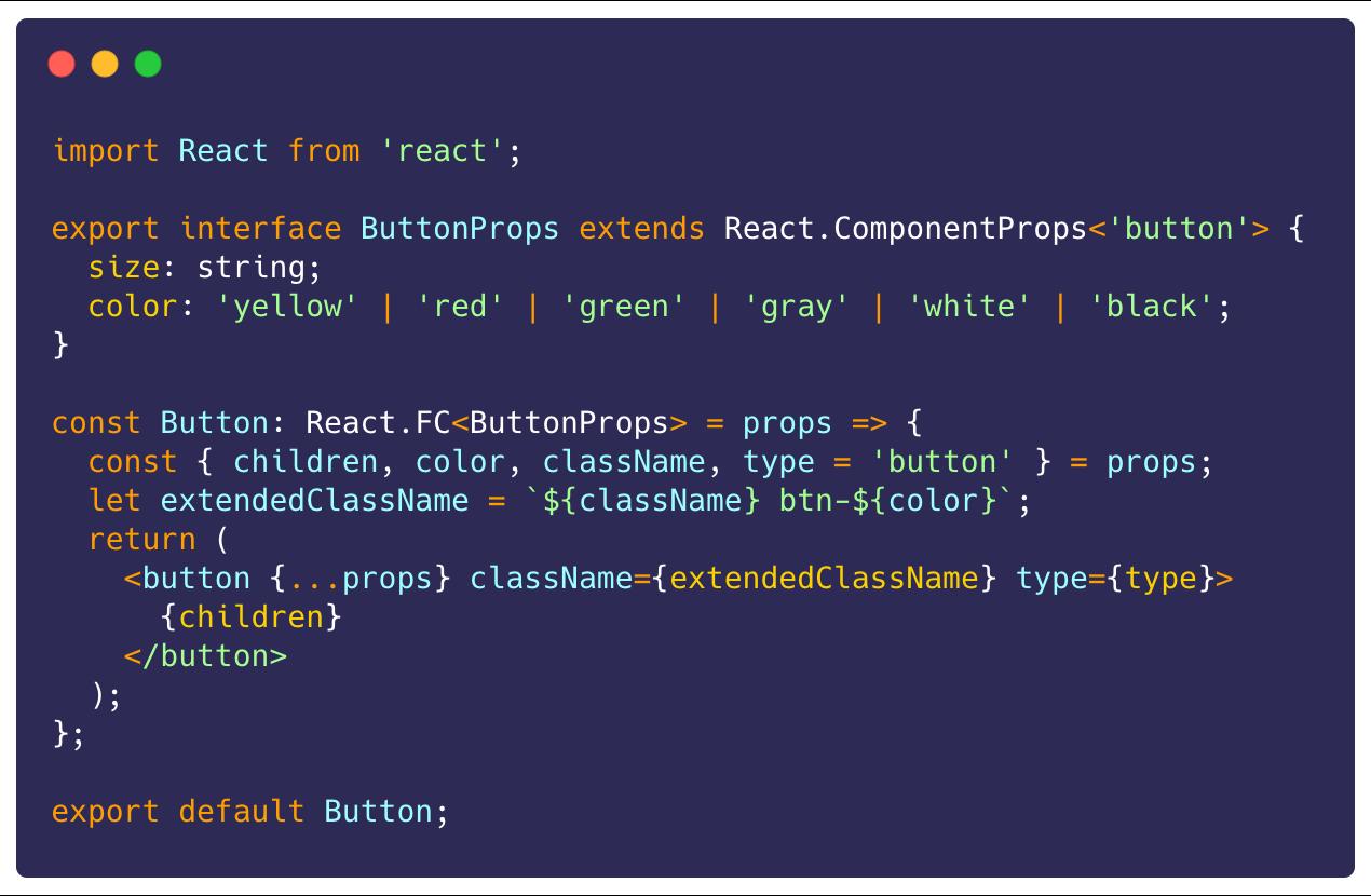 typescript component example