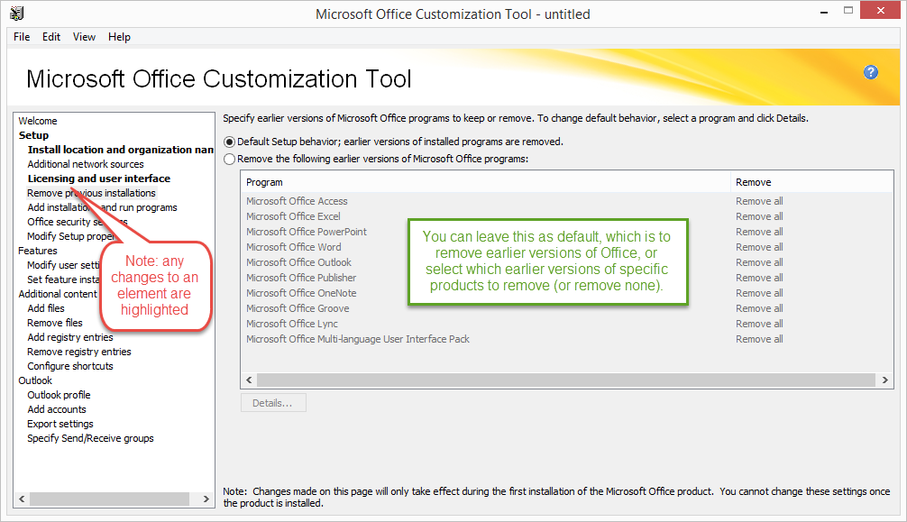 Deploy office 2016 using the microsoft office customization tool support - Office customization tool ...