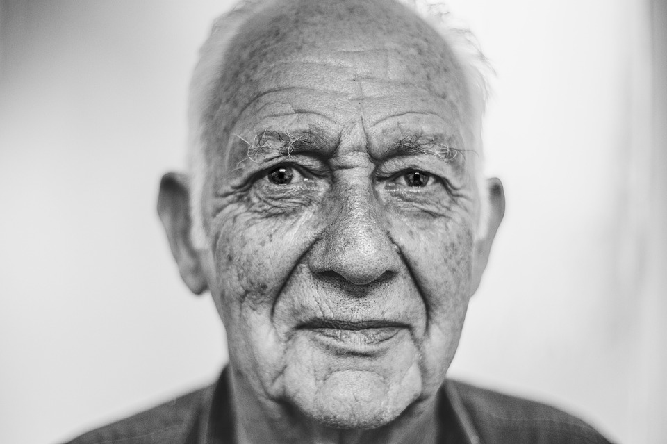 Look after your parents - picture of an elderly gentleman
