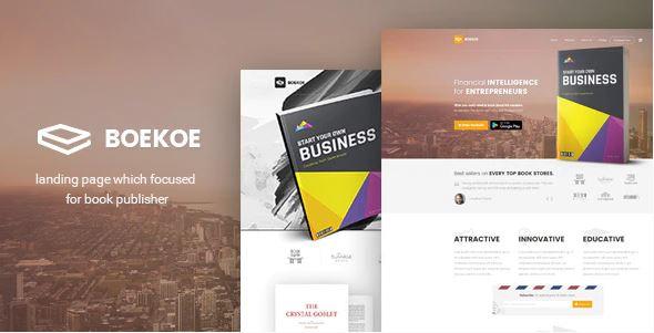 WordPress Book Landing Page theme