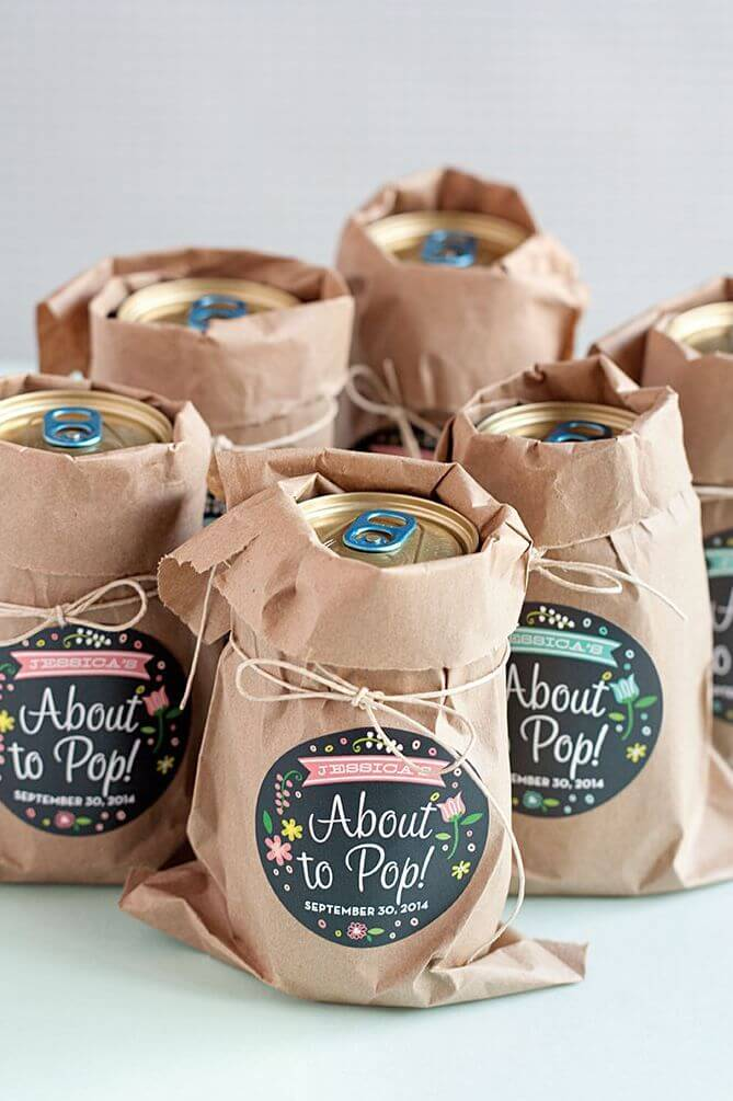Diaper party favors for guys