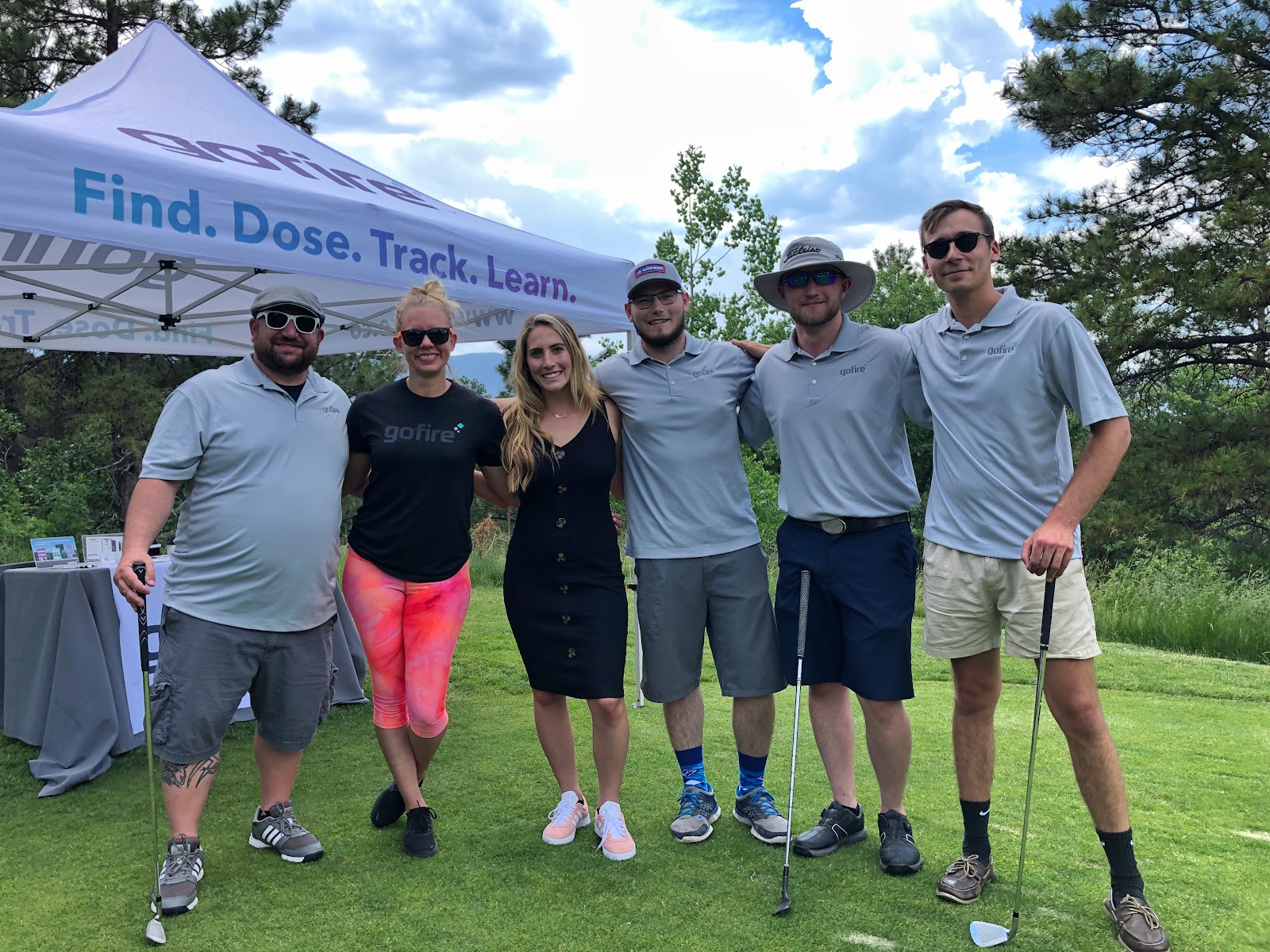 Gofire team at a charity golf event