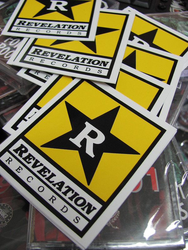 Promo stickers giveaways for revelation records by Sarri-sarri distro & records in Flickr