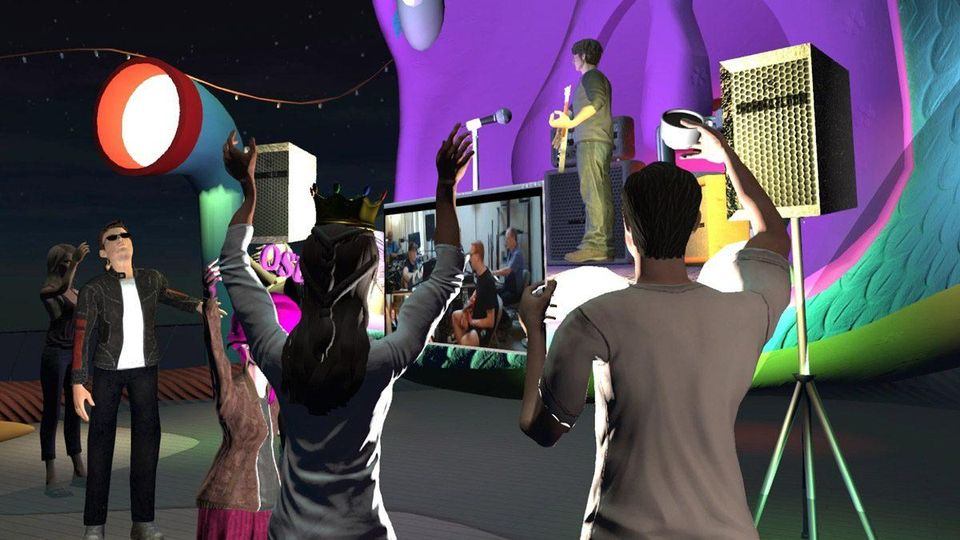 "FUTVRE LANDS attendees experienced a brand-new game hosted by a live DJ, a live theatrical... [+] performance, a marketplace bazaar, the ""Last Avatar Standing"" trivia game show and a real-time VR performance by five-time Grammy nominee Thomas Dolby."