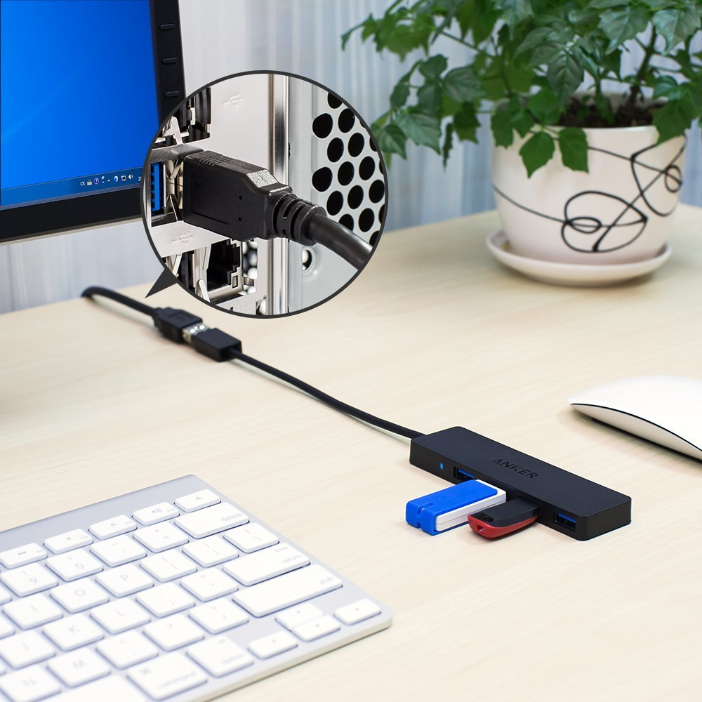 Anker 4 Port Ultra Slim Usb 3 0 Hub With Extension Cord