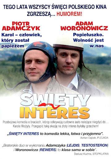 Tył ulotki filmu 'Święty Interes'