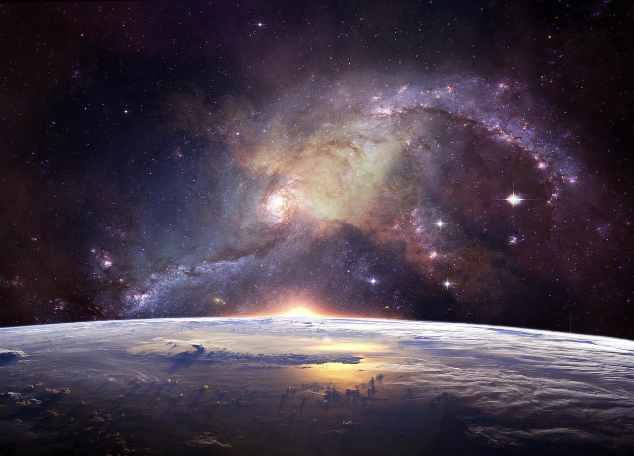 Image de l'univers avec de l'or dans ses constellations