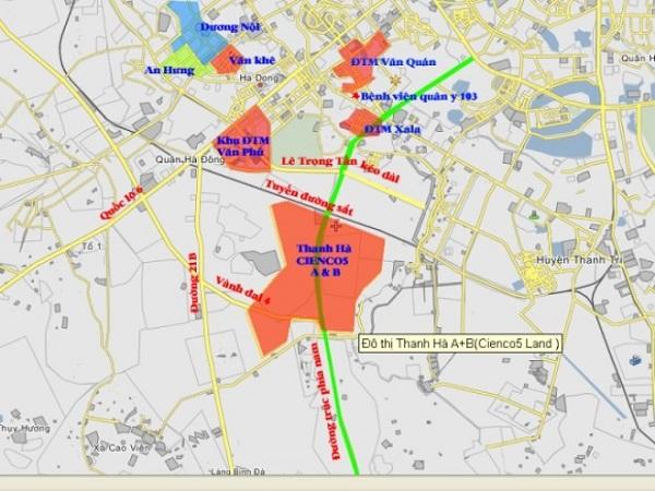 Vị trí đắc địa của dự án Thanh Hà Cienco 5 Mường Thanh