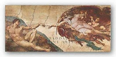 MUSEUM ART PRINT Creation of Man Michelangelo Buonarotti | eBay