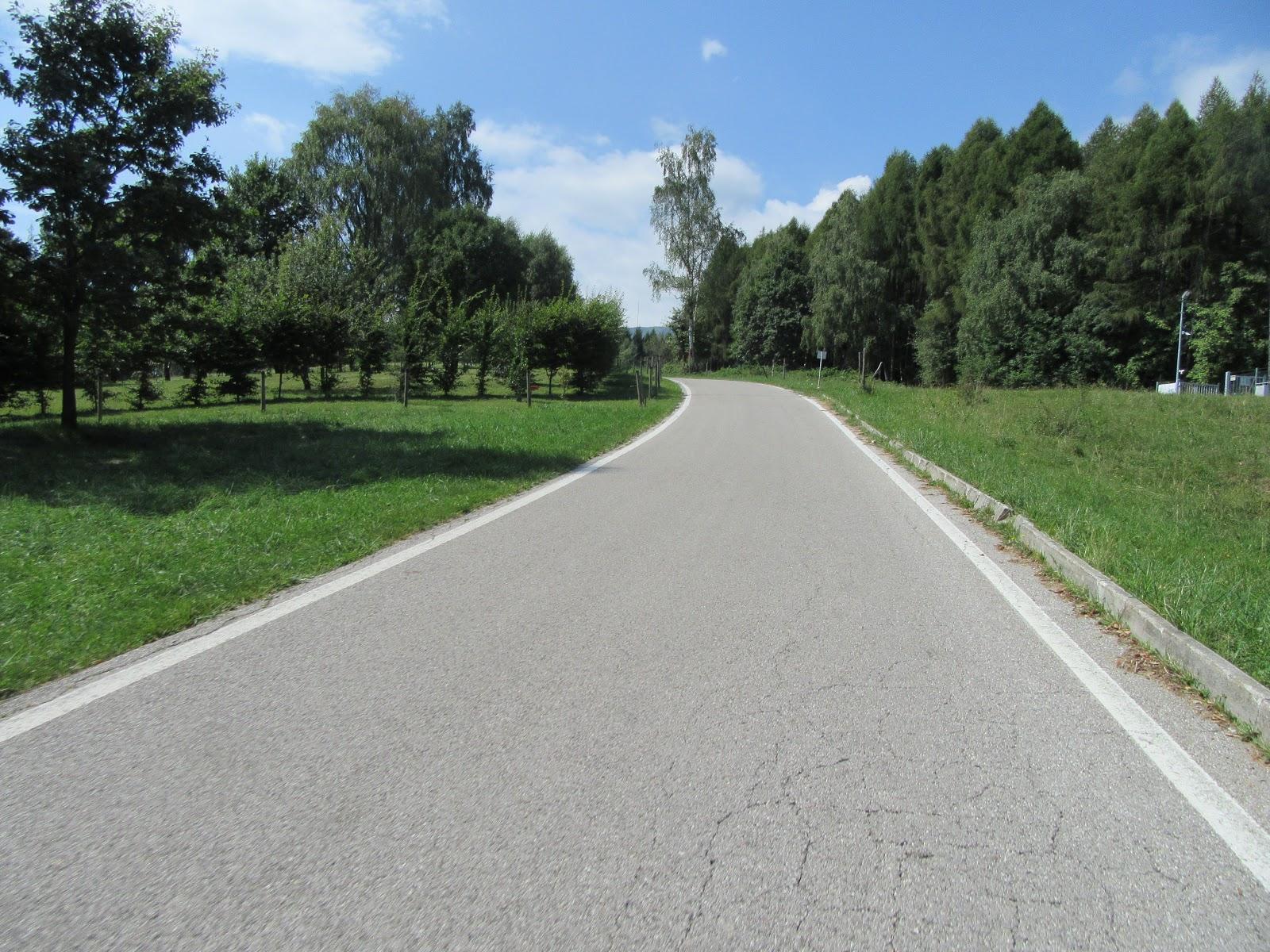 Biking Monte Grappa from Possagno  - road