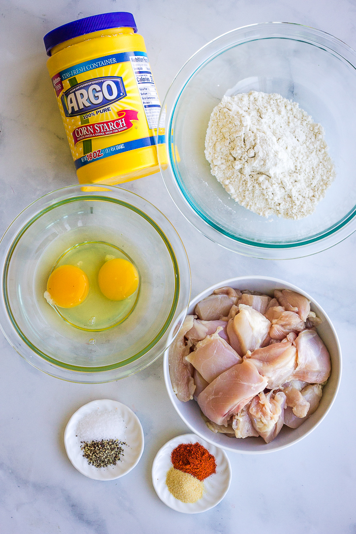 Ingredients for crispy baked chicken nuggets