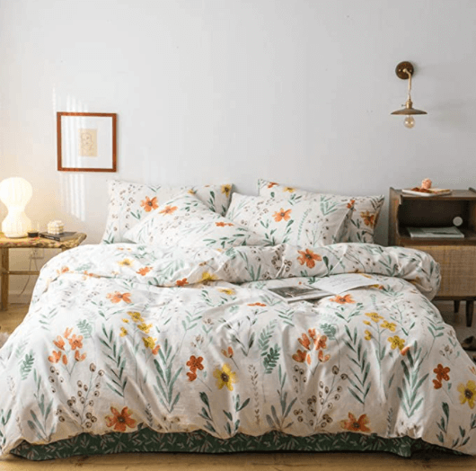 bedding set cotton with flowers