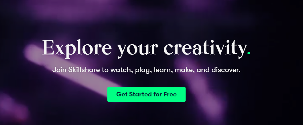 join skillshare to explore your creativity