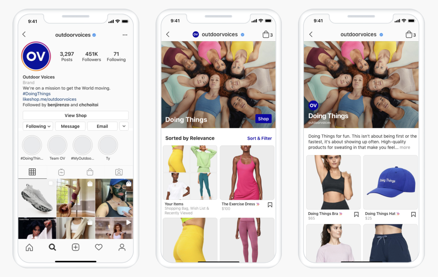 IG shops example