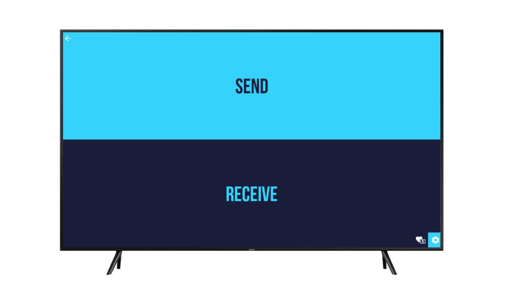 رابط کاربری برنامه Send Files to TV روی اندروید باکس نت باکس