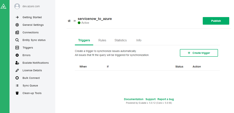 azure devops servicenow integration triggers