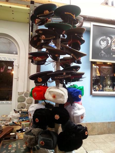 Izmailovskly Market army fur hats