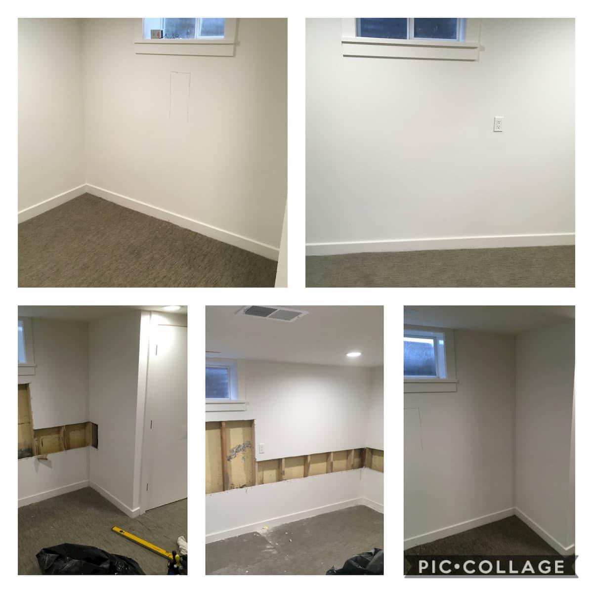 Mr. Handyman drywall repair services.