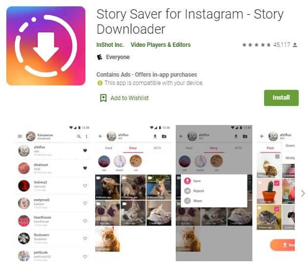 Repost Instagram story app