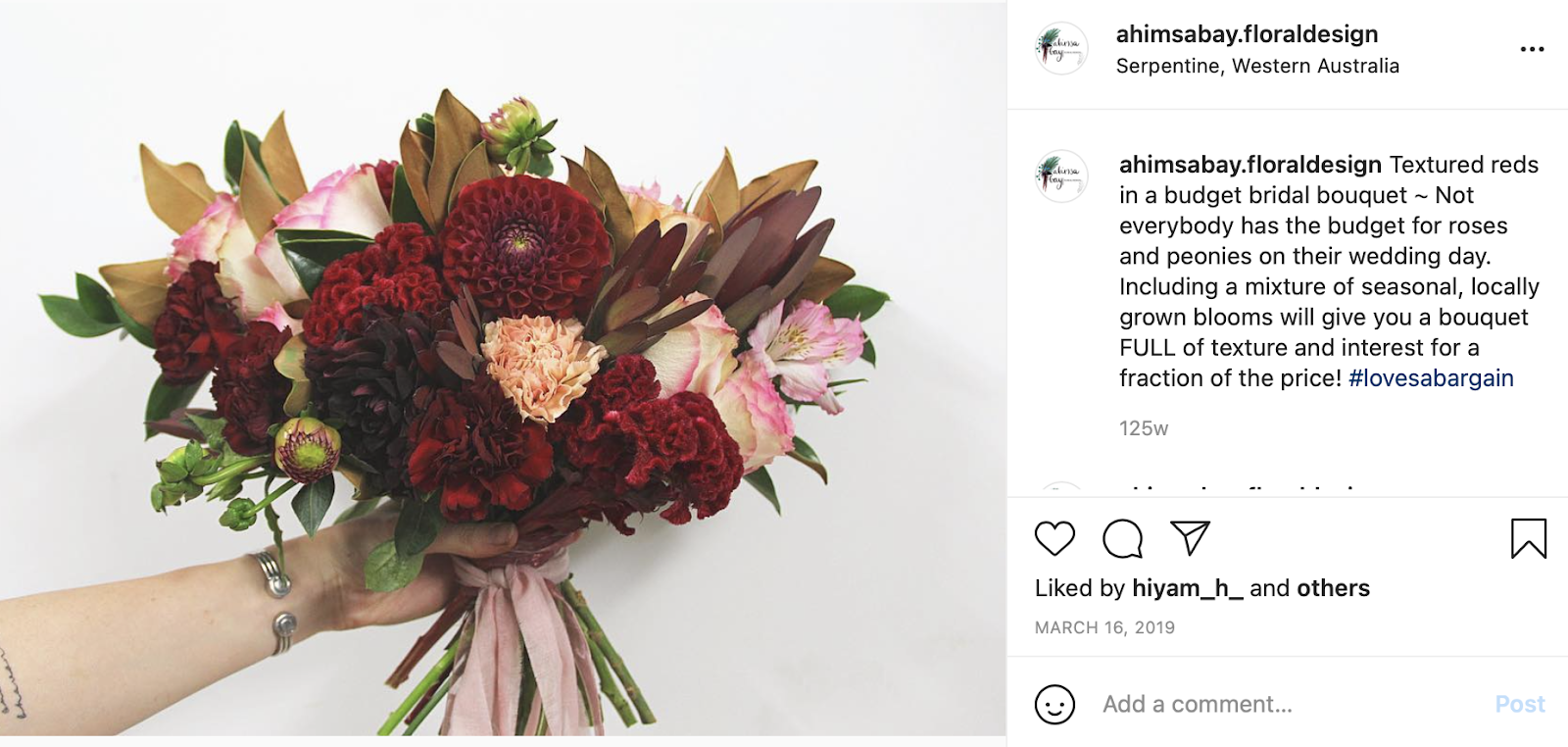 wedding flower cost on a budget