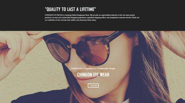 AI Web Design - Chingon Sunglasses