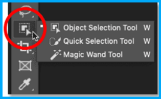 select subject from the options bar