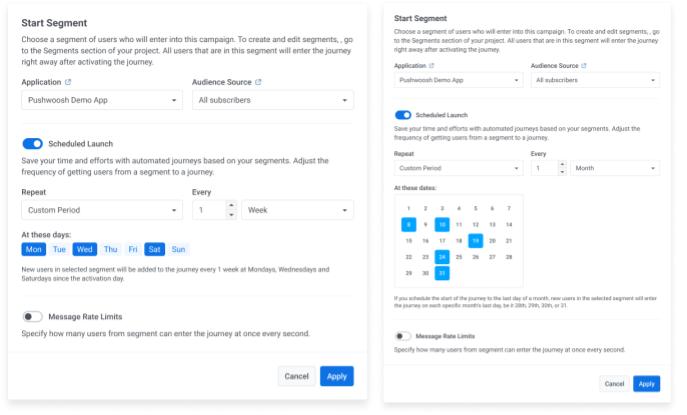 Repeat Segment in Pushwoosh Customer Journey Builder - Pushwoosh Product Update