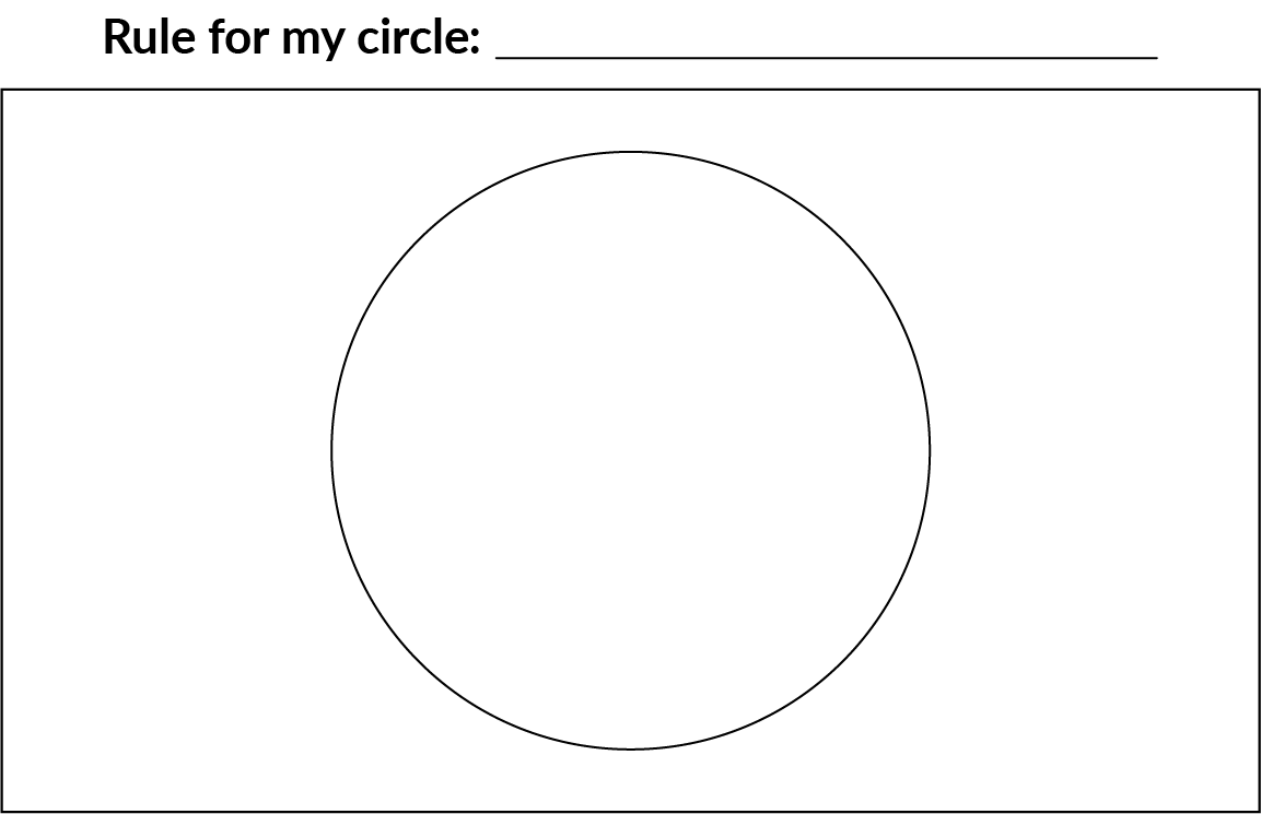 An empty circle, with the heading 'Rule for my circle.'